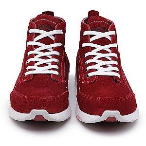 Tênis Jhon Boots Yeezy Sneakers Casual - Vinho