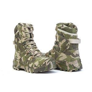Bota Coturno Militar Acero Multicam Camuflada
