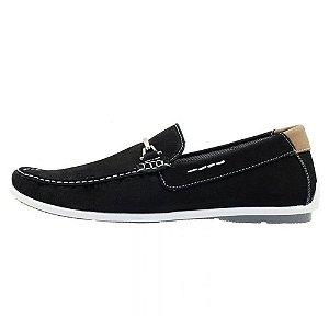 Mocassim masculino em couro Atron Shoes preto