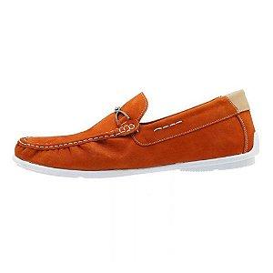 Mocassim masculino de couro Atron Shoes laranja