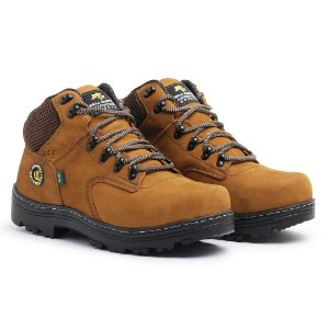 Bota Coturno Adventure Couro Bell Boots Masculina - Caramelo