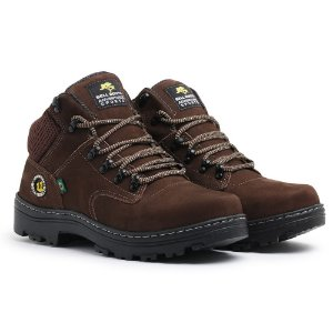 Bota Coturno Adventure Couro Masculina - Chocolate Ref 780