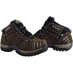 Bota Adventure Bell Boots Trançada - Marrom Escuro