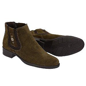 Botina Chelsea Boots Feminina - Verde Musgo