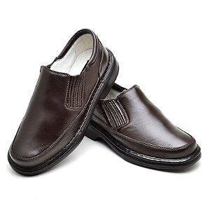 Sapato Anti Stress em Couro Legítimo Café