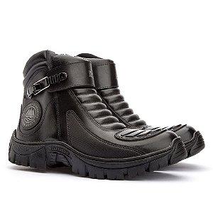 Bota Adventure Jhon Boots Motociclista - Preto - Ref. 101
