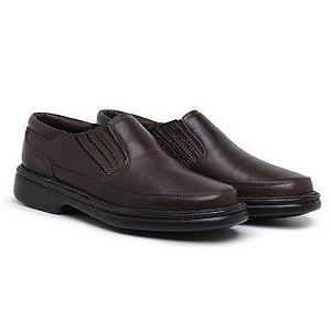 Sapato Masculino Ortopédico em Couro6017 - Café