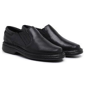 Sapato Masculino Ortopédico em Couro 6017 - Preto