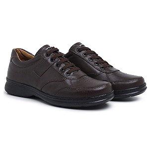 Sapato Masculino em Couro 6020 Café