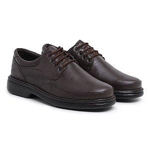 Sapato Masculino Ortopédico em Couro 6032 - Café