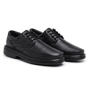 Sapato Masculino Ortopédico em Couro  6032 - Preto