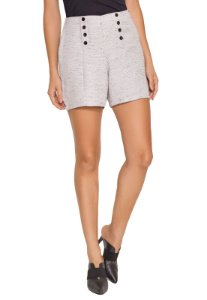 SHORTS TWEED CINZA