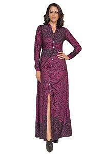 Vestido Longo Print Marsala