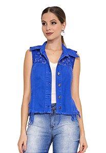 Colete Jeans Lace Collor