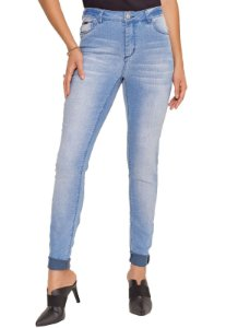 CALÇA JEANS SKINNY LIGHT BLUE
