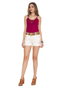 SHORTS DENIM COLOR COM CINTO