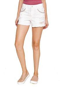 Shorts Curto Color com Pedraria