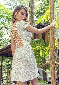 Vestido Jacar Jannete Off White