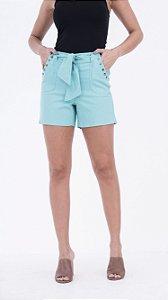 Shorts de Linho com Faixa