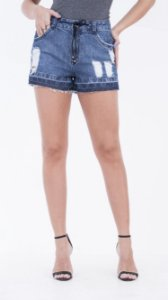 Shorts jeans curto denim
