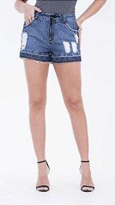 Shorts jeans curto denim