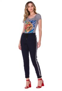 Calça jeans jogger Rosa K