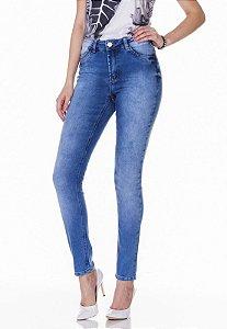 Calça Jeans Skinny c/ detalhes Rosa K