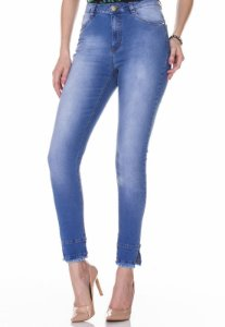 Calça Jeans c/ Barra Diferenciada Rosa K