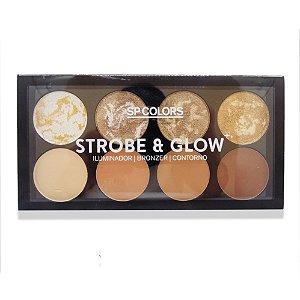 Paleta de Iluminador, Bronzer e Contorno Sp Colors Strobe & Glow