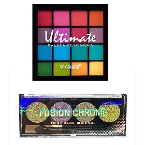 Paleta de Sombras Ultimate + Paleta de Sombras Fusion Chrome