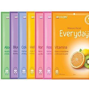 Máscara Facial SP Colors Everyday - Kit c/ 7 unidades