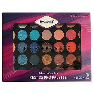 Paleta de sombra Sp Colors Best 35 Pro Palette Versão 2