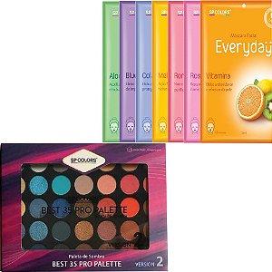 Paleta 35 cores SP Colors + 7 Máscaras Faciais Everyday SP Colors