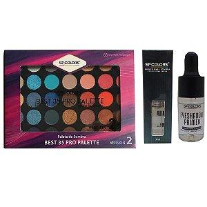 Primer p/ Sombra Eyeshadow Primer + Paleta Best 35 Pro Palette