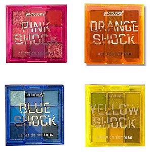 Paleta de Sombras SP Colors Shock - Kit c/ 4 unidades