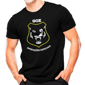 Camiseta Militar Estampada GOE