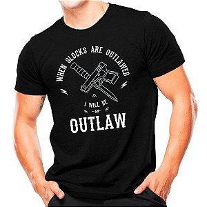 Camiseta Militar Estampada Glock Outlaw