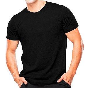 Camiseta Militar de Algodão Lisa
