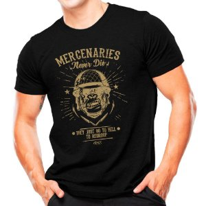 Camiseta Militar Estampada Mercenaries