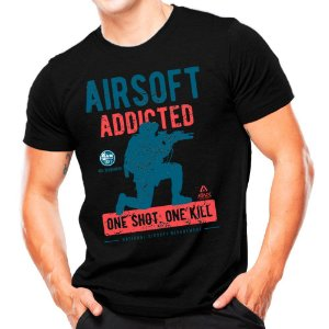 Camiseta Militar Estampada Airsoft One Shot