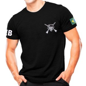 Camiseta Militar Estampada Exército Brasileiro