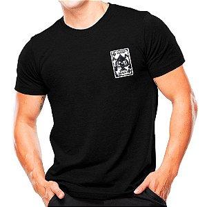 Camiseta Militar Estampada Tenta a Sorte
