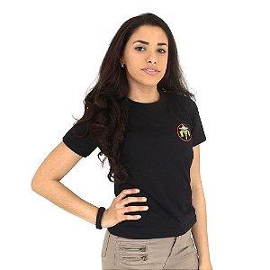 Camiseta Feminina Militar Baby Look Estampada Tropa de Elite