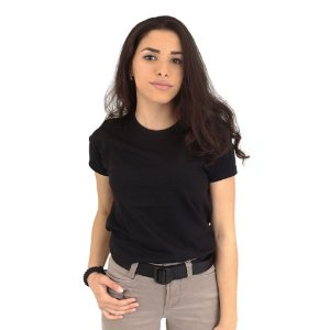Camiseta Feminina Militar Baby Look sem Estampa