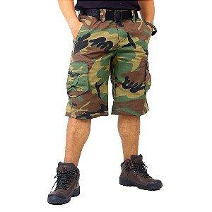 Bermuda Masculina Cargo Army