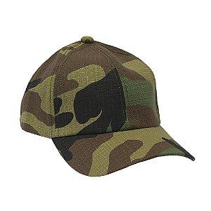 Boné Militar Rip Stop Liso Camuflado Woodland