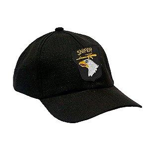 Boné Militar Rip Stop Com Patch Aplicado Sniper Airborne