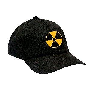 Boné Militar Rip Stop Com Patch Aplicado Radioatividade