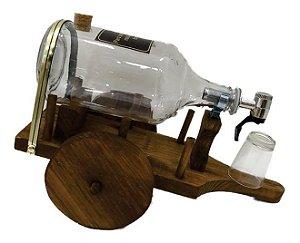 Pingômetro Carroça com Copo Rustico