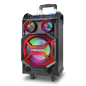 Caixa De Som Bluetooth Acústica Multiuso com Rodas 150w